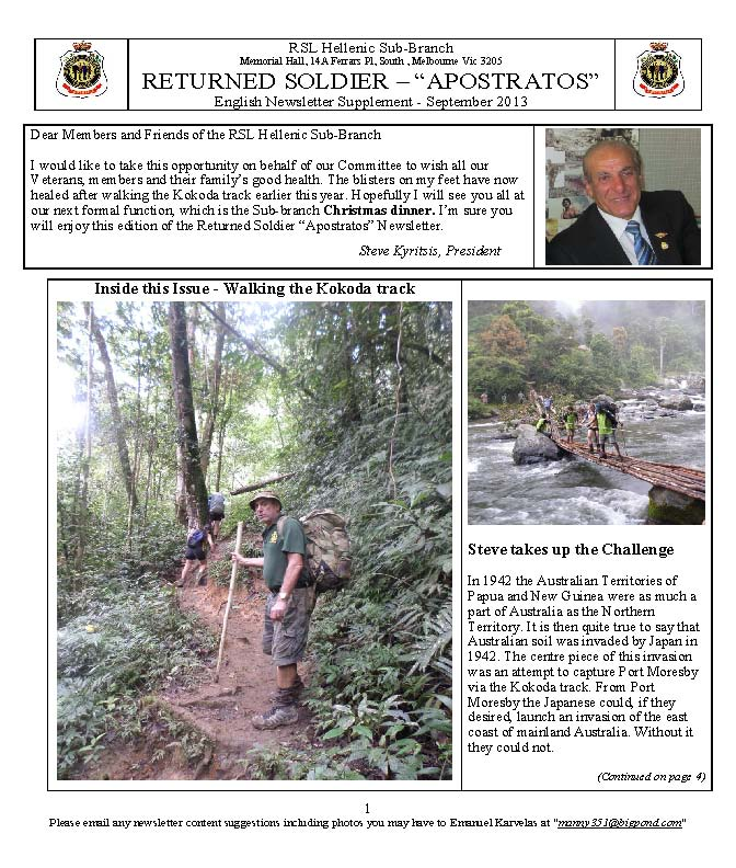 RETURNED SOLDIER RSL Hellenic Sub-Branch Newsletter Sep2013_Page_1