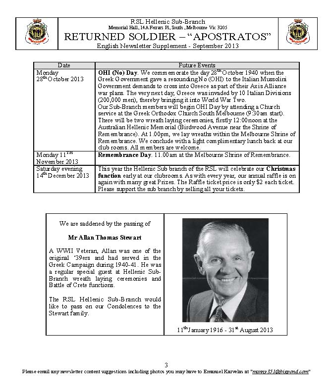 RETURNED SOLDIER RSL Hellenic Sub-Branch Newsletter Sep2013_Page_3