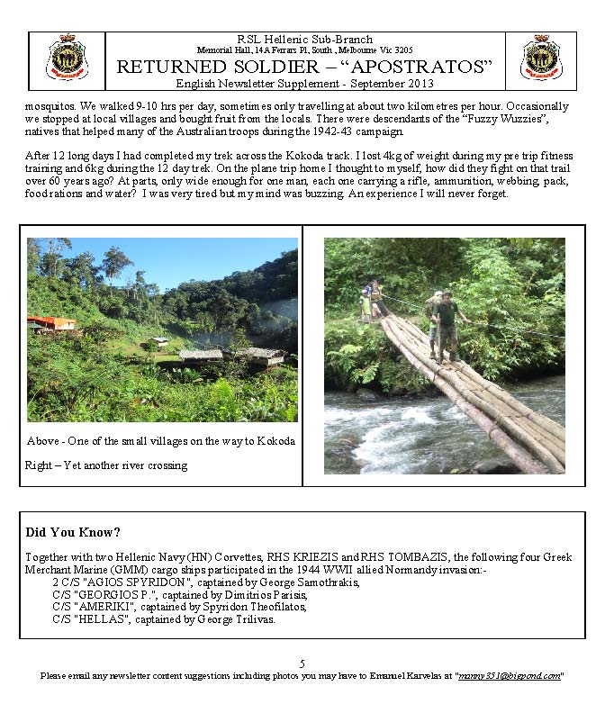 RETURNED SOLDIER RSL Hellenic Sub-Branch Newsletter Sep2013_Page_5