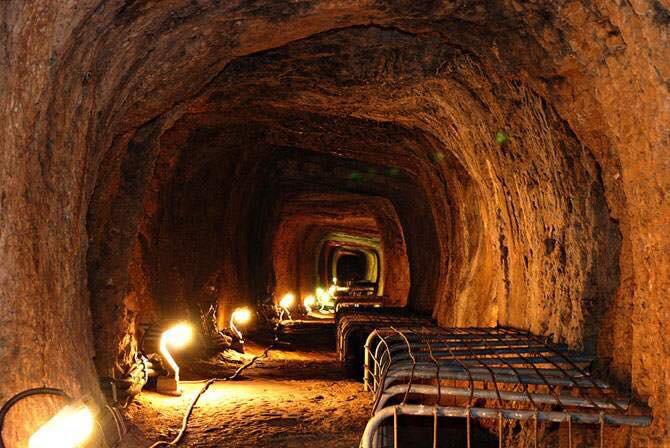 Tunnel of Eupalinos Pythagoreio, Samos Island, North ...